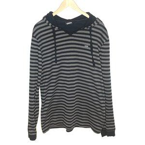 Vans Sweatshirt Hooded Stripes Blue Gray Sz 2XL